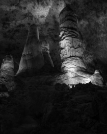 The Twin Domes in Carlsbad Caverns
