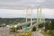 The twin Tacoma Narrows Bridge