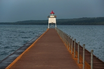 The Two Harbors MN breakwater and lighthouse