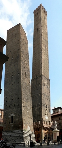 The Two Towers of Bologna Italy