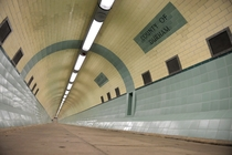 The Tyne PedestrianBicycle Tunnel Under the River Tyne Between Howdon amp Jarrow Tyne-amp-Wear England
