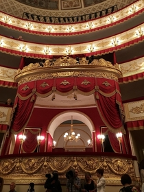 The Tzars box The Alexandrinsky Theatre St Petersburg