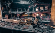 The un-photoshopped picture of the burnt down club in Austria