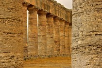 The unfinished temple of Segesta Italy