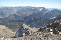 The unique and beautiful Lost River Mountains as seen from Mount Borah the ranges tallest peak and the high point of Idaho x