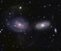 The Unraveling NGC  galaxies