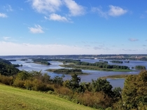 The upper Mississippi River is looking especially beautiful today from NW Illinois looking towards Iowa  x
