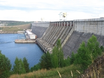The Ust-Ilimsk Hydroelectric Power Station on the Angara River Russia