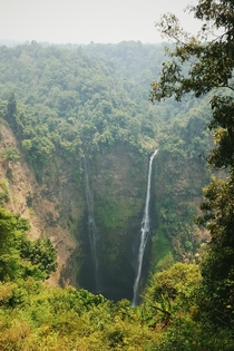 The utterly gigantic Tad Fane waterfalls Bolaven Plateau Laos