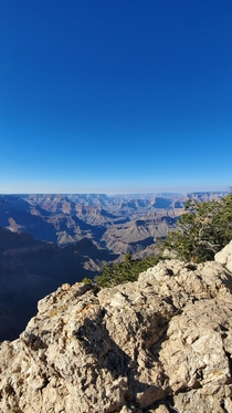 The vastness of the Grand Canyon