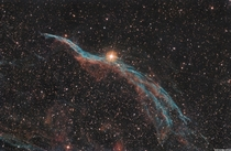 The Veil Nebula - A supernova remnant  light years from us taken through my telescope