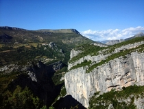 The Verdon Gorge France  One of the biggest canyons in Europe