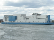 The Vernon C Bain Correctional Center is an -bed jail barge used to hold inmates in New York City Built for  million and opened in  it is the worlds largest operational prison ship Note the outdoor basketball courts at top-left