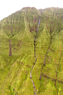 The very wet and very steep slopes of central Kauai