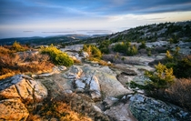 The view at sunset from Cadillac Mountain in Acadia National Park Maine OC