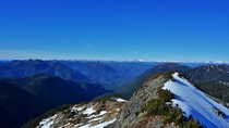 The view from a mountain I hiked up today on Vancouver Island