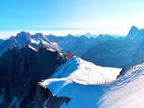 The view from Aiguille du Midi France