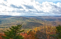 The view from atop Bear Mountain NY today