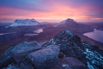 The view from atop Stac Pollaidh in the Northwest Highlands of Scotland  by Alexander Nail