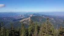 The view from atop Wagner Butte Oregon