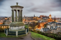 The view from Calton Hill Edinburgh  Photographed by Giuseppe Milo