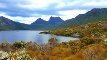 The view from Dove Lake at Cradle Mountain Tasmania