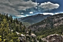 The view from Inspiration Point at Seven Falls in Colorado Springs