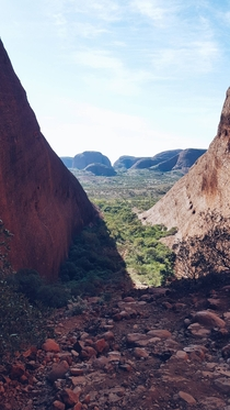 The view from Karinjana Lookout Kata Tjuta Australia