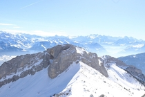 The view from Mt Pilatus Switzerland this past weekend