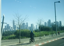The view from my bus home out of Tel Aviv university Fun fact Israeli cities built their universities on the highest point in the cities as a sign of respect to higher education