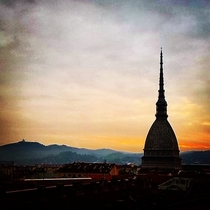 The view from my office window this morning Turin Italy  Xpost from rItalyPhotos
