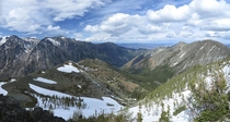 The view from Navaho Peak Washington