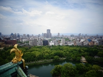 The view from Osaka Castle