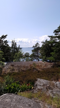 The view from our balcony in Stockholms Archipelago Sweden