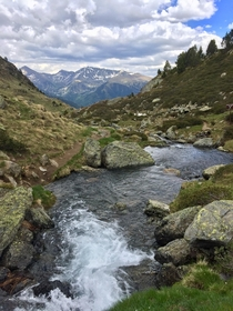 The view from our hike in The Pyrenees Mountains Andorra