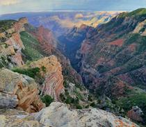 The view from our isolated campsite on the north rim of the Grand Canyon OC