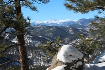 The view from panorama point above Kittredge Colorado