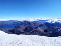 The view from Porters Heights ski field today Canterbury New Zealand