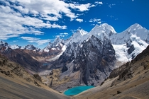 The View from Punta San Antonio La Cordillera Huayhuash Peru