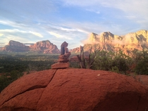 The View From Spaceship Rock Sedona AZ