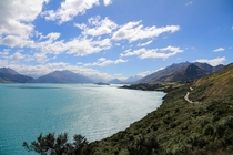 The view from the drive just outside of Queenstown New Zealand