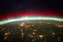 The view from the ISS of our planet and the aurora