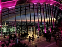 The view from the Skygarden on top of the walkie talkie building London