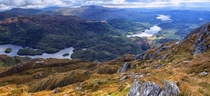 The view from the summit of Ben Venue in the Trossachs Scotland  Photographed by John McSporran