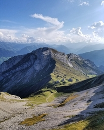 The view from the top of Mt Pilatus Switzerland x