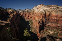 The view from the trail up to Angels Landing - Zion National Park Utah