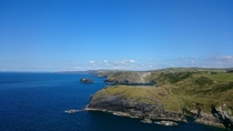 The view from Tintagel Cornwall UK