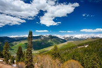 The view from Vail CO in June - Mid-Vail at ft elevation -