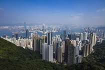 The view from Victoria Peak Hong Kong Island - The most vertical city in the world