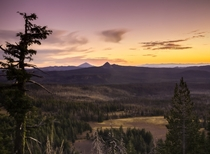 The view looking away from Crater Lake OR